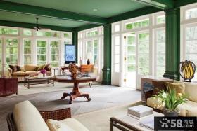 经典的美式田园风格客厅装修效果图大全2012图片