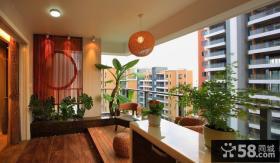 中式阳台室内盆栽植物图片大全