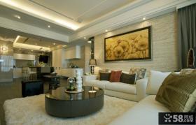 现代风格家庭客厅装饰画图片