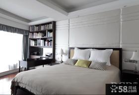 北欧风格卧室床头软包皮背景墙设计图片欣赏