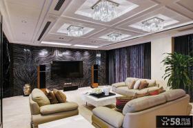 欧式豪华别墅客厅电视背景墙大全