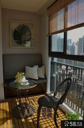 现代简约家装风格阳台家具图片