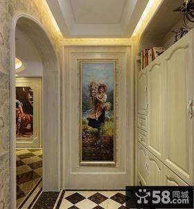 公寓进门玄关画图片