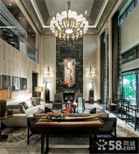 奢华的别墅客厅装修效果图大全2014图片