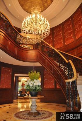 顶级豪华别墅家居楼梯设计