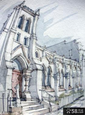 国外手绘建筑效果图