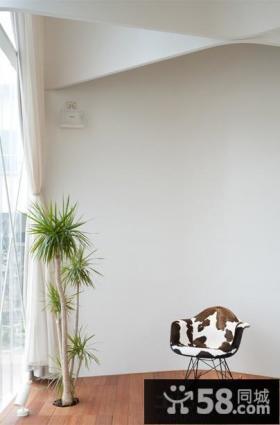 日式风格家居阳台墙角装饰