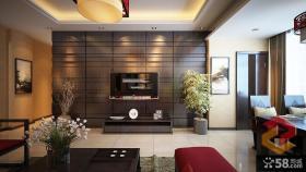 中式家装客厅背景墙图片