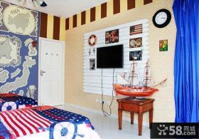 混搭风格室内卧室电视背景墙图片大全