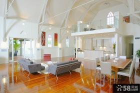 欧美风格复式大厅装修效果图