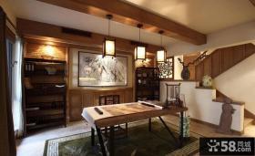 中式古典装修风格书房图片