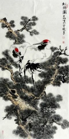 他的山水绘画作品烙有鲜明的时代印记
