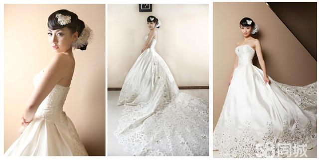 婚礼头纱素描设计图