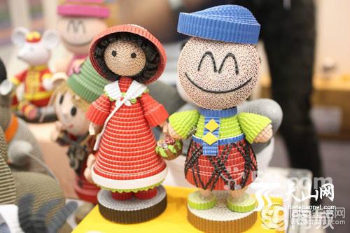 台湾造纸龙蛋卷娃娃纸工仔diy手工