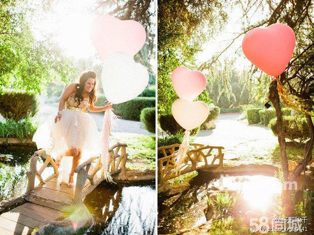制 婚礼布置 婚车装饰 氦气球