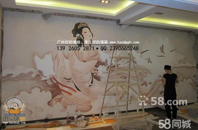 广州手绘墙画,墙绘背景