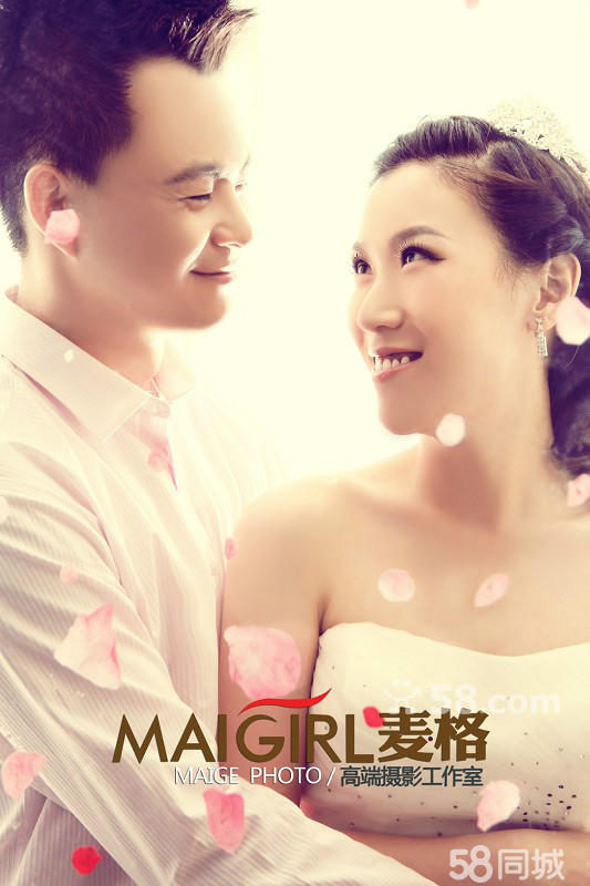 哈尔滨拍婚纱照个人写真就来麦格摄影
