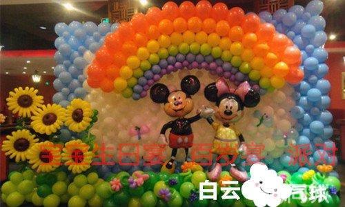 五一劳动节六一儿童节气球艺术装饰宝宝宴会策