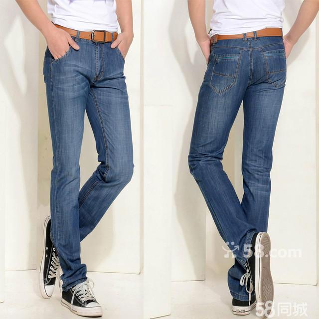 子; 男士牛仔裤