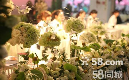 精美过道布置:  1,法式超高纱缦一座  2,欧式路引柱8个及鲜花装饰或