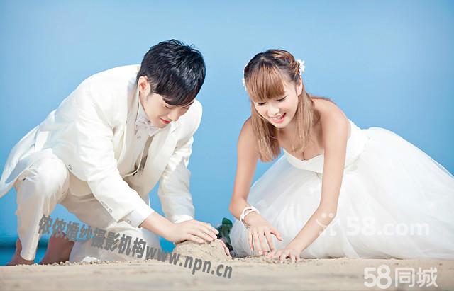 南皮婚纱摄影南皮侬侬婚纱摄影-拍摄海边婚纱照姿势