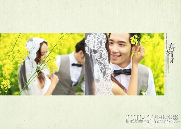 享受爱情的浪漫清新自然的婚纱照
