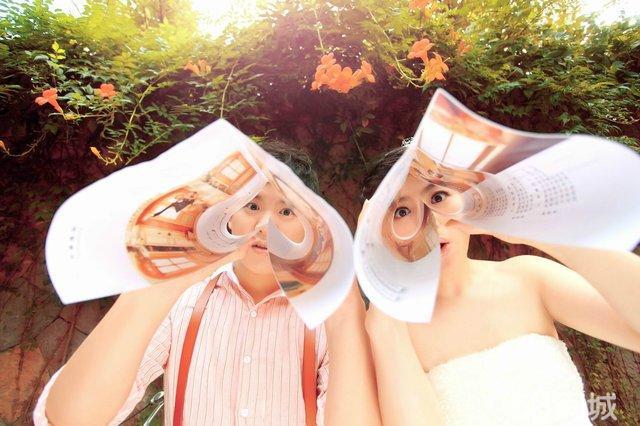 现代趣味创意婚纱照