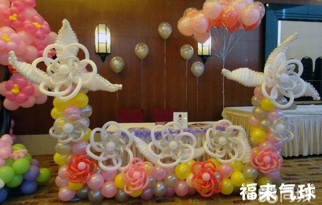 南宁最温馨浪漫最创意婚礼现场气球布置